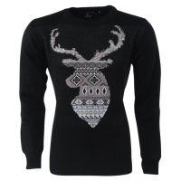 New Republic Unisex kerst trui rendier ronde hals zwart