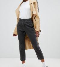 Noisy May Petite - Enkellange mom jeans - Zwart