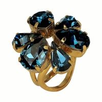 Otazu Oceaan Azul Kristal Ring