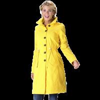 Regenjas met capuchon Yasmin geel