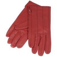 Leren dames handschoenen rood