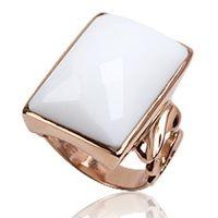 Cocktail ring 925 zilver Roségoud Wit Agaat