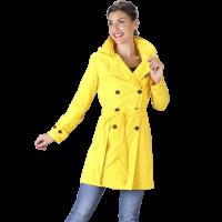 Waterdichte Trenchcoat met capuchon Yasmin geel