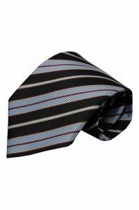 Zwarte zijden stropdas Fisole 01