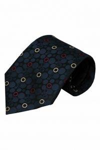 Blauwe zijden stropdas Brescia 01