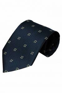 Blauwe zijden stropdas Gallo 01