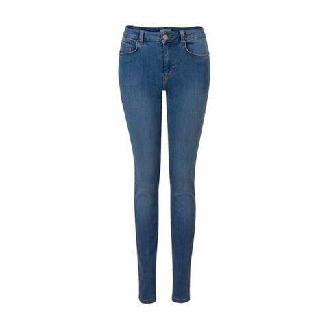 mid waisted skinny fit jeans