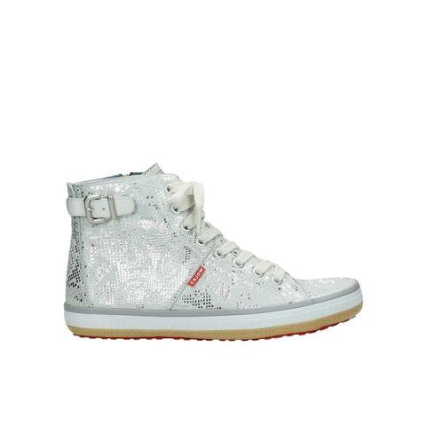 Wolky Sneakers 01225 Biker - 90130 zilver metallic leer