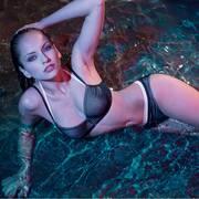Nicole Olivier Badmode bikini slip Bernard zwart 5118