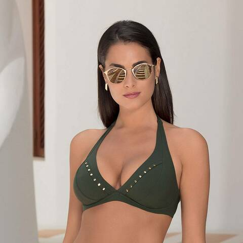 Lise Charmel Badmode Eclat Elegance Bikini triangel top groen ABA2513