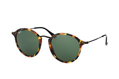 Ray-Ban RB2447 1157 - zonnebril - Round Fleck - Tortoise/Zwart - Groen Klassiek G-15 - 52mm