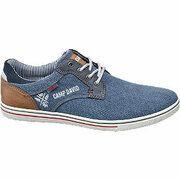 Blauwe sneaker vetersluiting Venture by Camp David maat 41