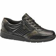 Zwart/bruine leren sneaker Medicus maat 5.5