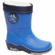 Blauwe regenlaars gevoerd Cortina maat 21