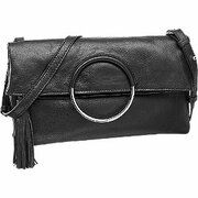 Zwarte clutch leer 5th Avenue maat