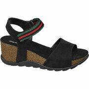 Zwarte sandaal sleehak Graceland maat 40