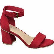 Rode sandalette gespsluiting Graceland maat 36