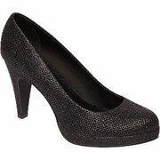 Zwarte glitter pump Graceland maat 41