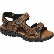 Bruine leren sandaal leren voetbed Bjrndal maat 42