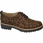 Bruine veterschoen leopard Graceland maat 38