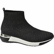 Zwarte sock boot steentjes Graceland maat 40