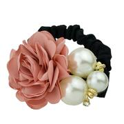 Black Elastic Rope with Colorful Flower Headband
