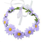 Colorful Sunflower Ribbon Wreath Hairband Wedding Hair Ornament
