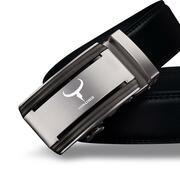 COWATHER CZ008 Leather Automatic Buckle Business Men'S Casual Belt