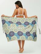 Tribal Loop Printed Lace Up Sarong