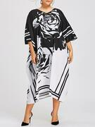 Plus Size Printed Midi Dress