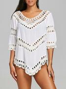 Beach Crochet Insert Cover Up Top