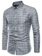 Plaid Print Single Breasted Long Sleeves Shirt