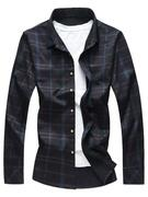 Button Up Shiny Checked Print Shirt