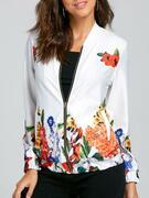 Zip Up Short Floral Jacket