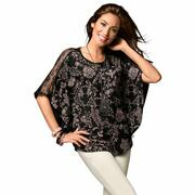 NU 15% KORTING: Classic Basics shirt met zwarte vleermuismouwen