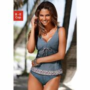 NU 15% KORTING: S.OLIVER Beugeltankini in jeans-look