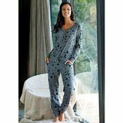 NU 15% KORTING: BENCH homewear jumpsuit met sterrenprint