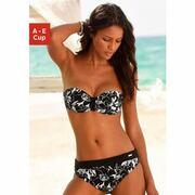 NU 21% KORTING: LASCANA bikinitop met beugels, in bandeaumodel, Flower