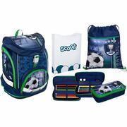 Scooli schooltassenset, 4-delig, Twixter Up Football Cup