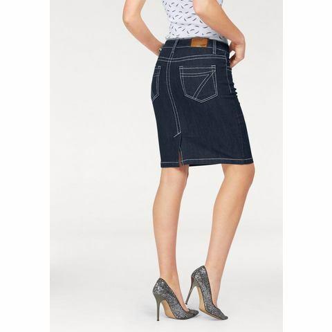 NU 15% KORTING: ARIZONA jeansrok met markante stiknaden