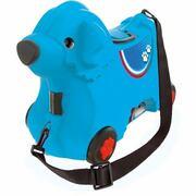 BIG 2-in-1 kindertrolley en loophond, BIG Bobby trolley blauw