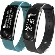 Sportplus fitness-band/smartwatch, incl. 2 bandjes en hartritmemeter, Q-band HR+ SP-AT-BLE-90