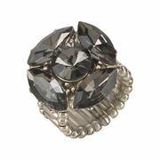 J. Jayz, Dames Ring, donkergrijs / zilver