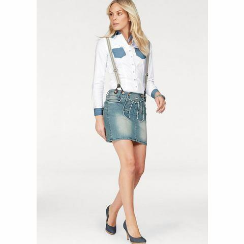 NU 15% KORTING: ARIZONA Jeans-rok in folkore-look