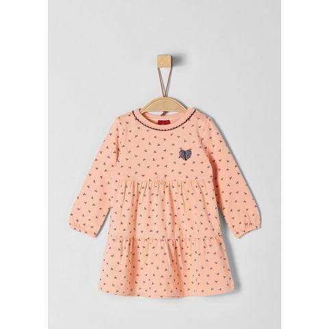 NU 15% KORTING: s.Oliver RED LABEL Junior Jersey jurk met strikjesmotief voor baby