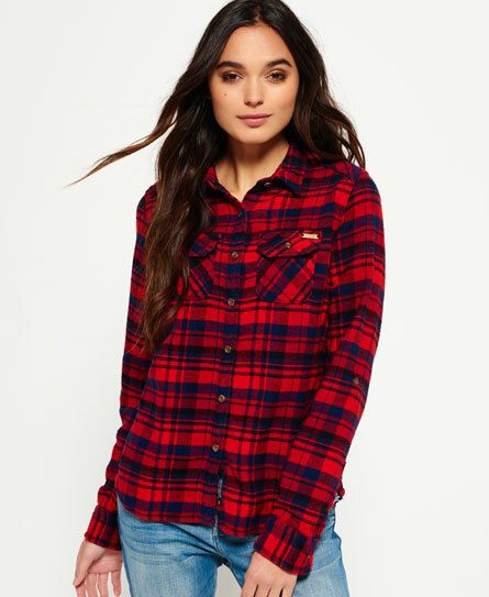 Superdry Milled Flannel blouse