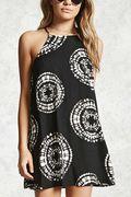 Random Geometry Print Mini Dress