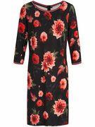 Jerseyjurk met driekwartmouwen Van Betty Barclay multicolour