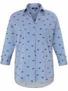 Lange blouse Van FRAPP blauw
