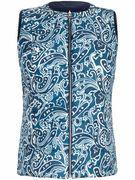 Keerbare bodywarmer Van Anna Aura blauw